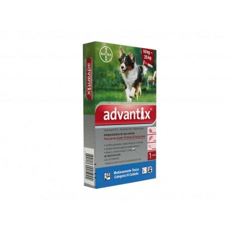 ADVANTIX PERROS 10 / 25 KG SOLUCION SPOT-ON VETERINARIA