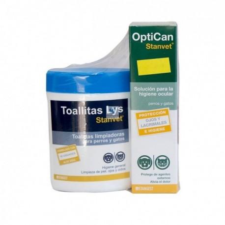 PACK HIGIENE OJOS (OPTICAN 125 ML TOALLITAS LYS 40 UDS)