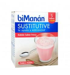 BIMANAN SUSTITUTIVE BATIDO DE FRESA  55 G 6 SOBR